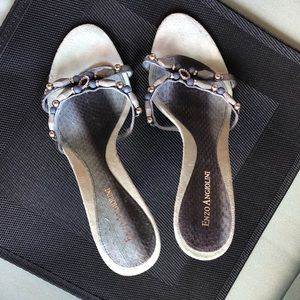 Enzo Angiolini Light turquoise beaded heels!